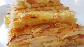 Τέλεια πατσαβουρόπιτα με ζαμπόν και τυρί για όλες τις ώρες!