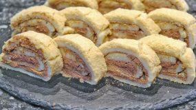 Εύκολα Παστάκια χωρίς αυγά με παντεσπάνι (χωρίς ψήσιμο) - No bake chocolate swiss rolls