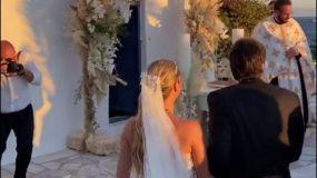 Νίκος Κριθαριώτης: Παντρεύτηκε τη Ναστάζια Δαρίβα με νυφικό της αδελφής του, Σήλιας! (εικόνες)