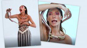 GNTM: Χαμός στο πλατό – Μπήκε το φίδι στο… παντελόνι της και ούρλιαζε