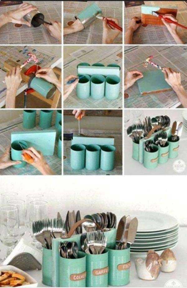 22 Πανέξυπνες και Χρήσιμες κατασκευές για το σπίτι από παλιά δοχεία και μπουκάλια φαγητού!