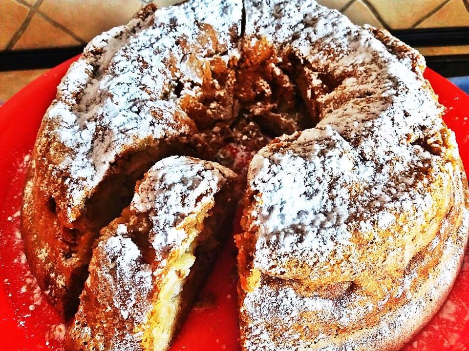 Κέικ μήλου χωρίς γαλακτοκομικά και  χωρίς μίξερ