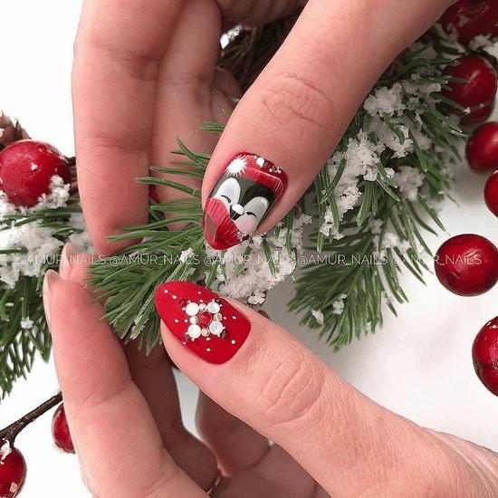 26 Ιδέες για κόκκινα γιορτινά σχέδια νυχιών που θα σε καταπλήξουν
