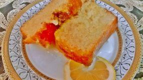 Υγρό κέικ λεμόνι μοσχομυριστό