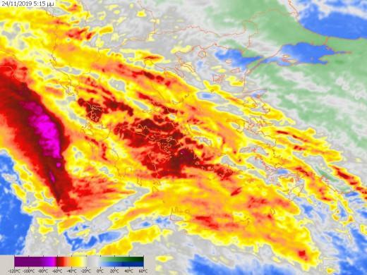 Έκτακτο  για κακοκαιρία «Γηρυόνης»: : Αυτές οι περιοχές είναι στο κόκκινο για τις επόμενες ώρες