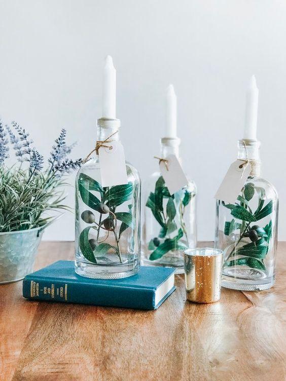 Διακοσμήστε το σπίτι σας με γυάλινα αντικείμενα που ήδη έχετε στο ντουλάπι σας