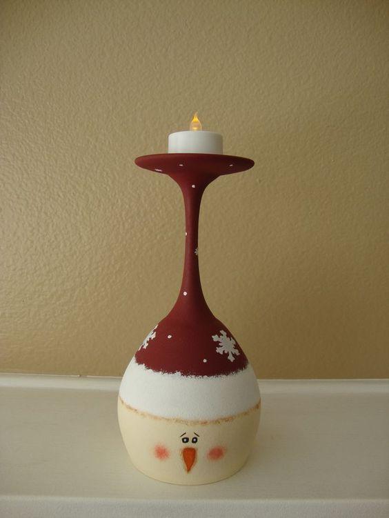 DIY Χριστουγεννιάτικα κηροπήγια με κολονάτα ποτήρια!