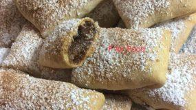 Νηστίσιμα μηλοπιτάκια με μπισκοτένια ζύμη και γέμιση από σταφίδες