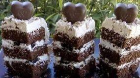 Εύκολη τούρτα με σοκολάτα, σαντιγί και αφράτο παντεσπάνι