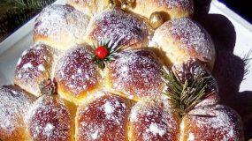 Χριστουγεννιατικό δέντρο απο ζύμη γεμιστό με μαρμελάδα ή μερέντα