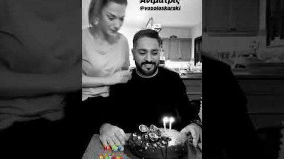 Λευτέρης Σουλτάτος: Τα γενέθλια του σεφ και το «τρυφερό» φιλί της Λασκαράκη!