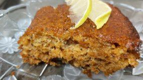 Πανεύκολο κέικ λεμονιού χωρίς βούτυρο, αυγά, και ζάχαρη