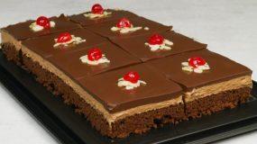 Πάστα σοκολατίνα με μους πραλίνας και γκανάζ σοκολάτας βήμα βήμα