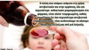 Παιδίατρος αναφέρει τους κινδύνους της υπερβολικής χρήσης αντιβιοτικών στα παιδιά