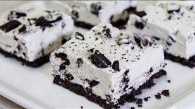 Εύκολο Γλυκό Ψυγείου με Oreo σε 10' - No Bake Oreo Cheesecake