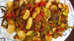 Γίγαντες με ψητά λαχανικά και βινεγκρετ μπαλσάμικου