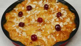Εύκολη σιροπιαστή πατσαβουρόπιτα με φύλλο κρούστας και κρέμα γιαουρτιού βήμα, βήμα!