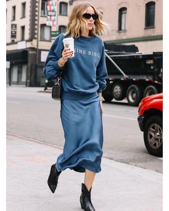 Το satin είναι απόλυτη τάση στις φούστες για την Άνοιξη 2020 σε casual & βραδινές εμφανίσεις