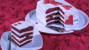 Τουρτα Red Velvet για του Αγίου Βαλεντίνου-Red Velvet cake recipe