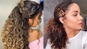 Μοναδικά χτενίσματα για μαλλιά με έντονες μπούκλες σε κοντά ή μακριά μαλλιά!