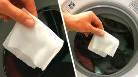 Βάλτε ενα μωρoμάντηλο στο πλυντήριο ρούχων και δείτε τι θα γίνει!