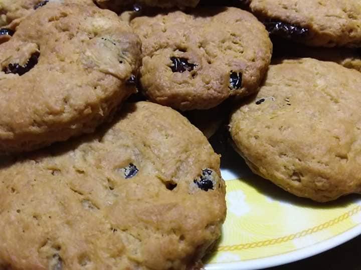 Μπισκότα μήλου με cranberries χωρίς ζάχαρη! (νηστίσμα)