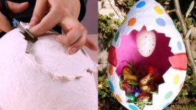 Φτιάξτε DIY πασχαλινό αυγό με την τεχνική παπιέ μασέ! Υπέροχο αποτέλεσμα