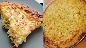 Αλμυρή τάρτα με κολοκυθάκια, τυρί κρέμα και κεφαλοτύρι!