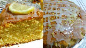 Αφράτο κέικ λεμόνι με γιαούρτι και γλάσο λεμονιού!