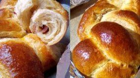 Συνταγή για αλμυρό τσουρέκι κορδονάτο γεμιστό με ζαμπόν & τυρί