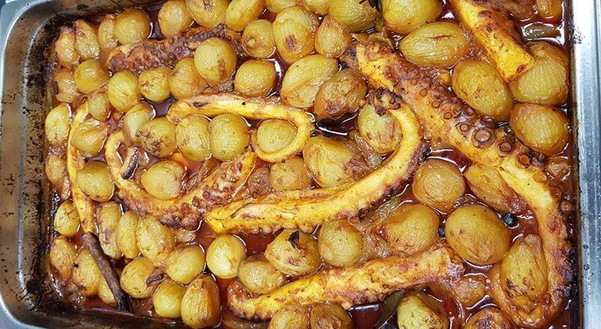 Συνταγή για χταπόδι στιφάδο