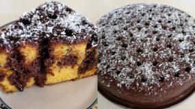 Τρυπατο σιροπιαστό κέικ καρότου με σάλτσα σοκολάτας
