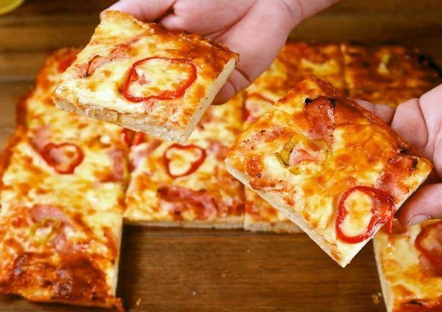 Πίτσα της τεμπέλας- Η πιο εύκολη πίτσα σπέσιαλ σε χρόνο ρεκόρ!