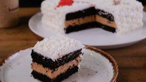 Η πιο εύκολη τούρτα με μόνο 5 υλικά και ζαχαρόπαστα - Chocolate Cake ASMR