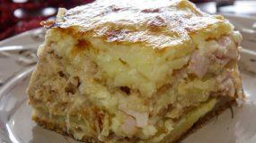 Πατάτες Ογκρατέν με γαλοπούλα και διάφορα τυριά από το Live Kitchen