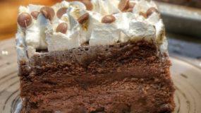 Η πιο εύκολη σοκολατίνα με κρέμα ζαχαροπλαστικής και σαντιγί