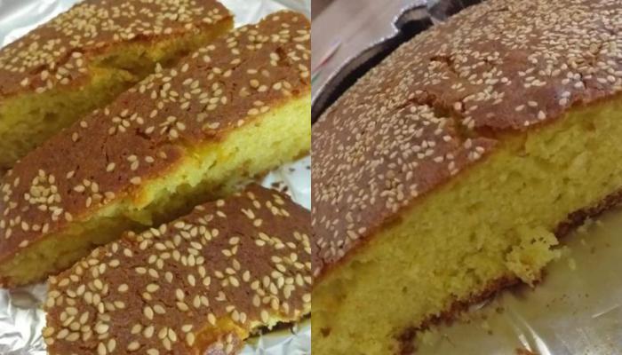 Εύκολο κέικ πορτοκαλιού με ταχίνι χωρίς αυγά και γαλακτοκομικά!
