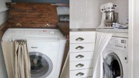 """15+3 έξυπνες ιδέες για να """"κρύψετε"""" το πλυντήριο σας - Θα απελευθερώσετε αρκετό χώρο"""