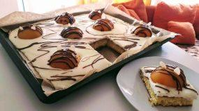 Bienchenkuchen: Ελαφρύ γλυκό ταψιού με  αφράτο κέικ και κρέμα