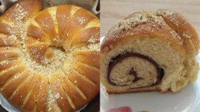 Μπριός σαλιγκάρι γεμιστό με σοκολάτα και μέλι με φουντούκια