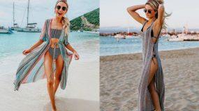 Μοναδικά outfits για την παραλία το καλοκαίρι- Πως να συνδυάσεις καφτάνια και παρεό στη θάλασσα