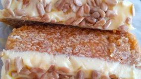Δυναμωτικές μπάρες βρώμης με φυστικοβούτυρο και γλάσο λευκής σοκολάτας