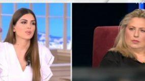 Η Σάντρα Βουτσά ενοχλημένη στο «Happy Day» ξεκαθαρίζει: «Θα σας κάνω ανάλυση του τι θα συζητήσω με τις αδελφές μου;»
