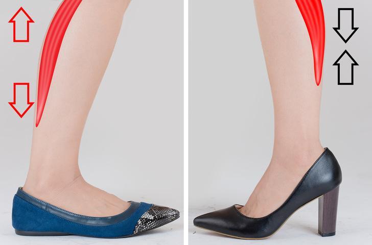 τακούνια και χαμηλά παπούτσια