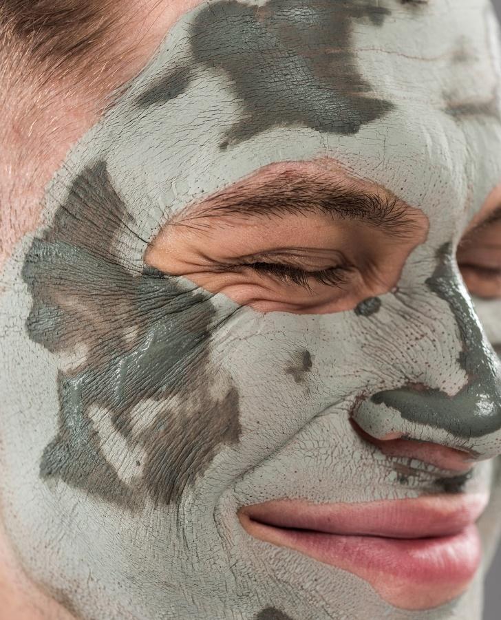 μάσκα από πηλό