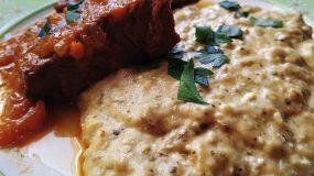 Συνταγή για μαριναρισμένο μοσχάρι με πουρέ μελιτζάνας