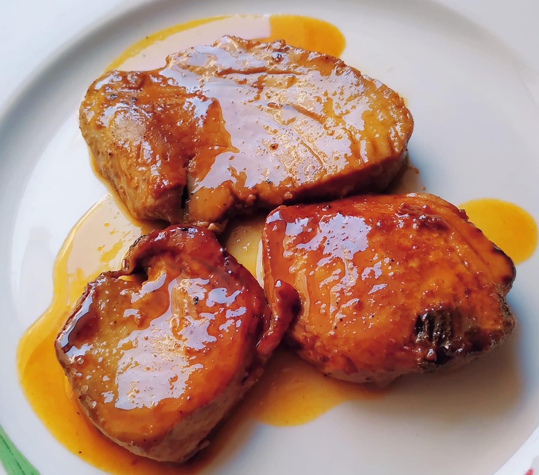 Φιλετάκια τόνου με πεντανόστιμη σάλτσα πορτοκαλιού & τζίντζερ