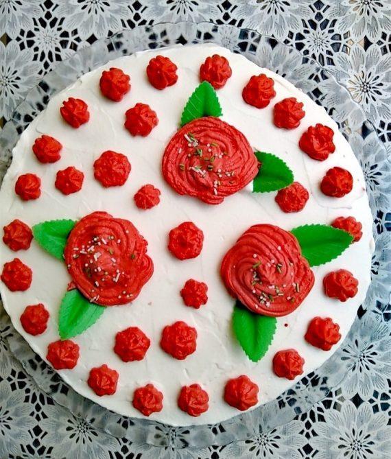 Τούρτα Red Rose: Η απόλυτη λουλουδένια τούρτα με απλά υλικά