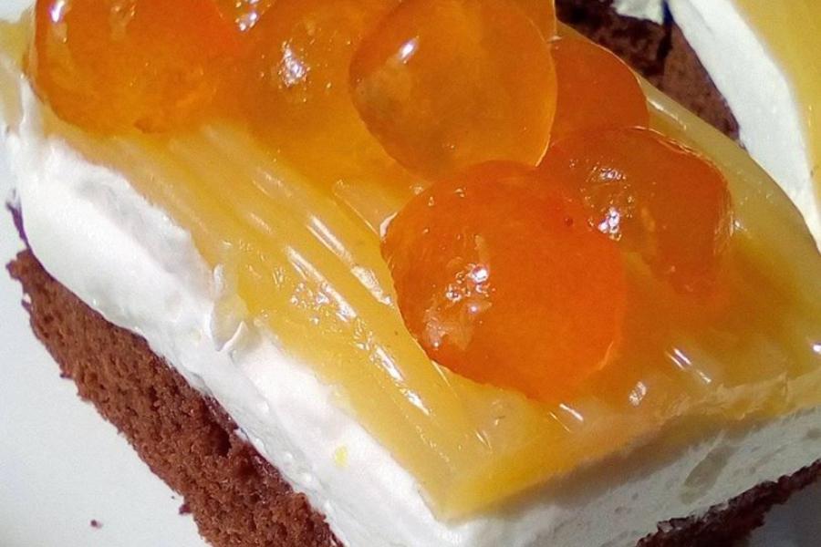 Δροσερό γλυκό με σοκολατένια βάση και κρέμα φρούτων!