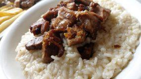 Κρητικό τσιγαριαστό κατσίκι με γλυκάδια και ρύζι!
